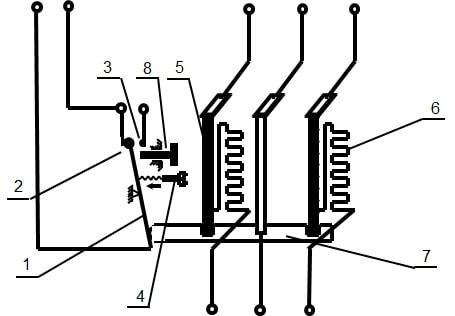 cấu tạo của rơ le nhiệt